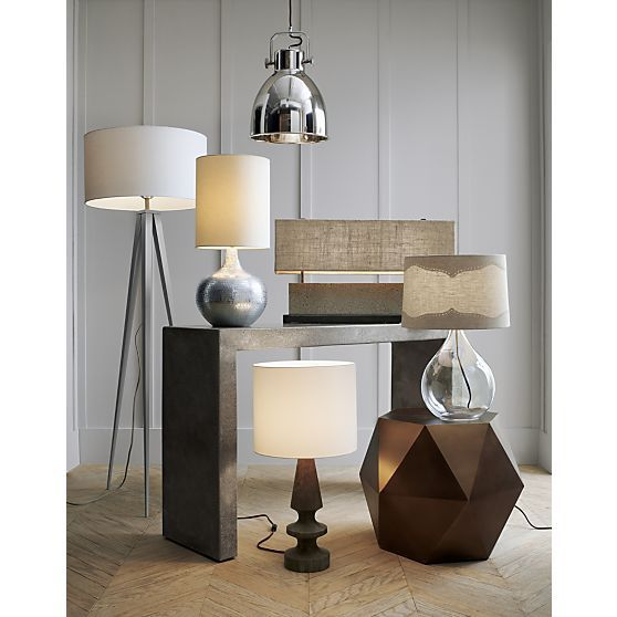 Hudson Pendant Light Floor Lamp Grey Lamp Concrete Table Lamp Living room table lamps grey