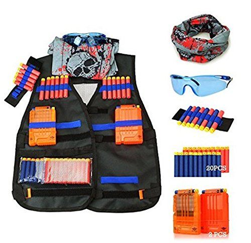 3e777f81a71 CloverTale Tactical Vest Kit for Nerf Gun