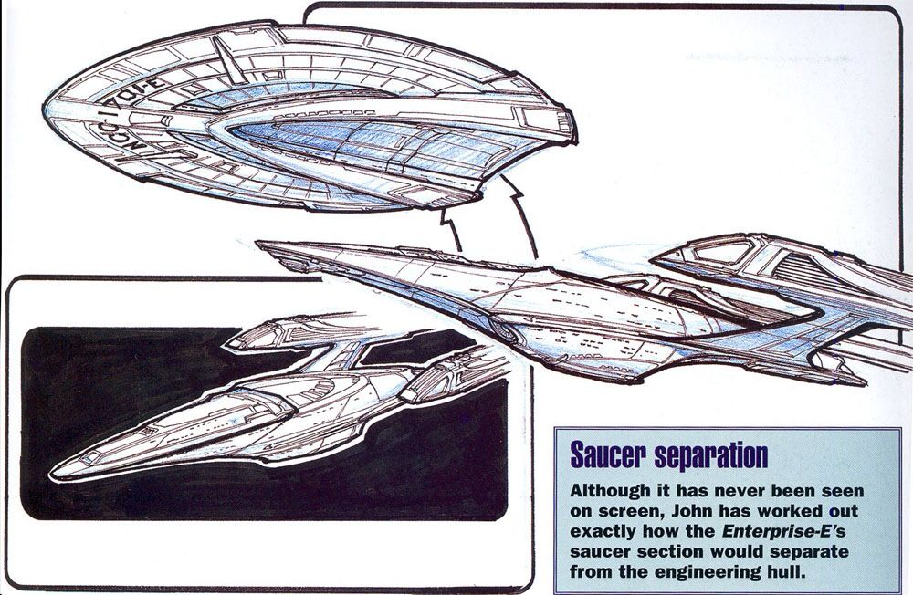 Drawings for saucer separation on 1701-E.