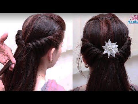 Coiffure Avec Tresse Coiffure Pour Tous Les Jours Pour L Ecole College Travail Facile A Fai Easy Hairstyle Video Hair Styles Bun Hairstyles For Long Hair