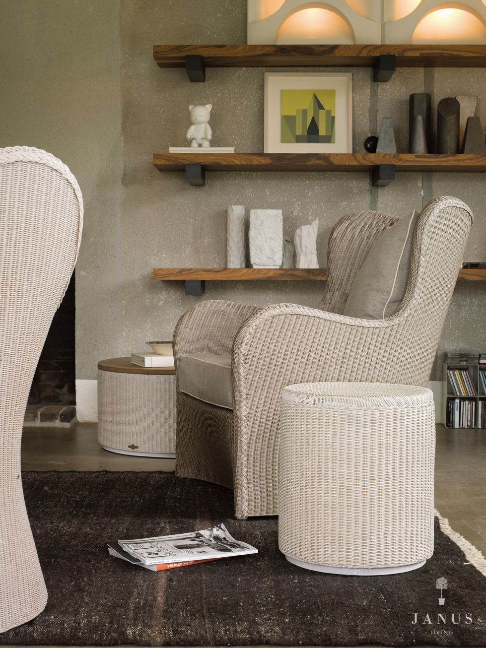 Butterfly Lounge Chair And Rondo Side Table Loom By