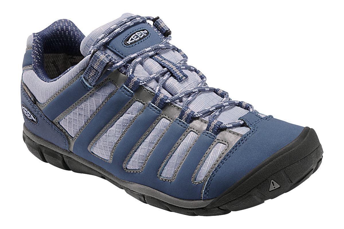 """KEEN, """"Alpha WP CNX"""" $120 -- Waterproof, low profile multi-sport shoes with KEEN.CNX technology. Featureing KEEN.DRY waterproof, breathable membrane, the Alpha WP will keep toes dry on quick hikes in any weather. At 9.8 oz, these shoes offer low-profile, ultra-light support and comfort."""