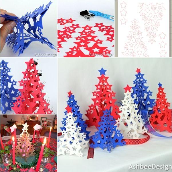 DIY Beautiful 3D Paper Star Christmas Tree Check Tutorail