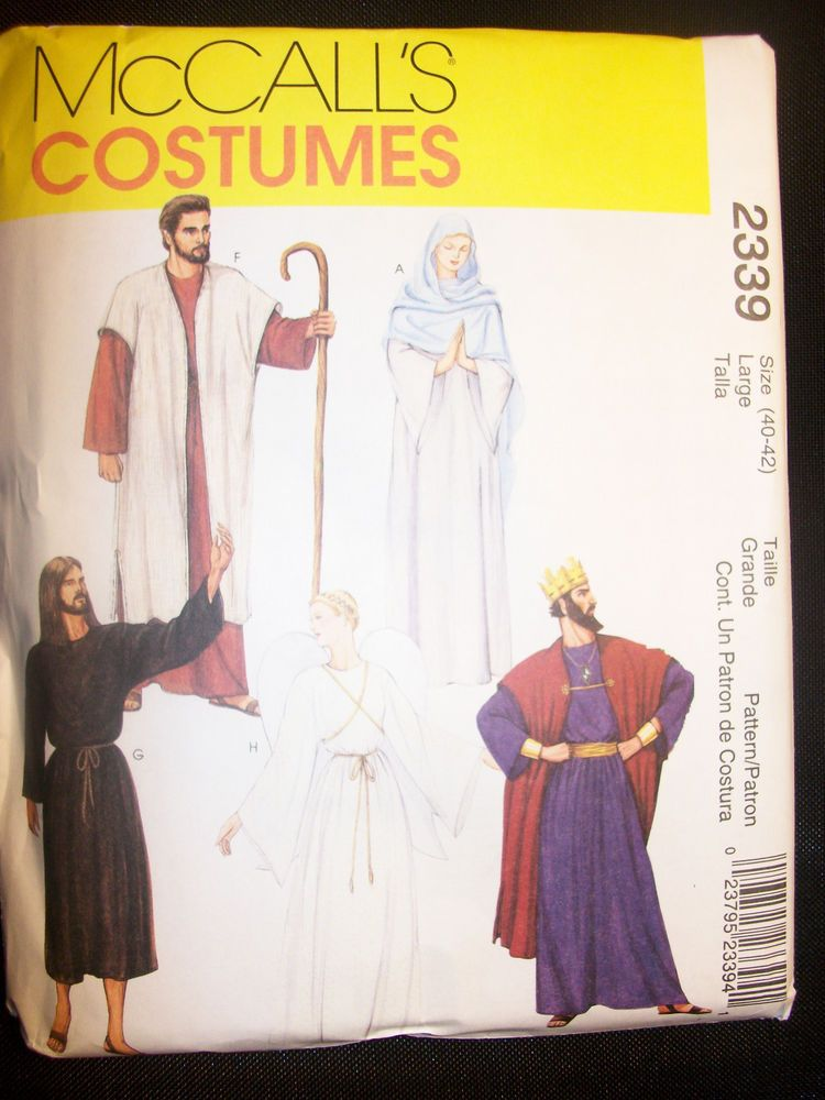 558MCCALLS Misses Mens Nativity Kings Shepherds Angel Costumes ...