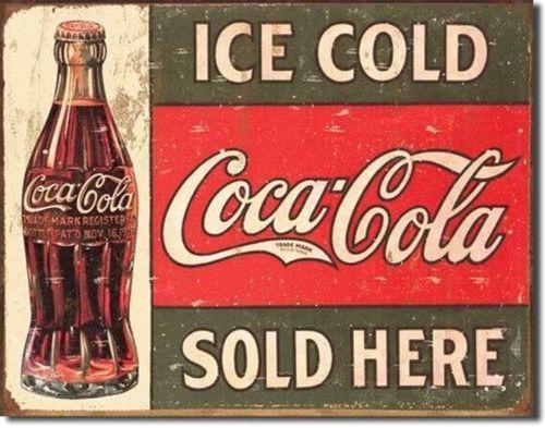 Coca Cola Coke 1916 Tin Advertising Sign