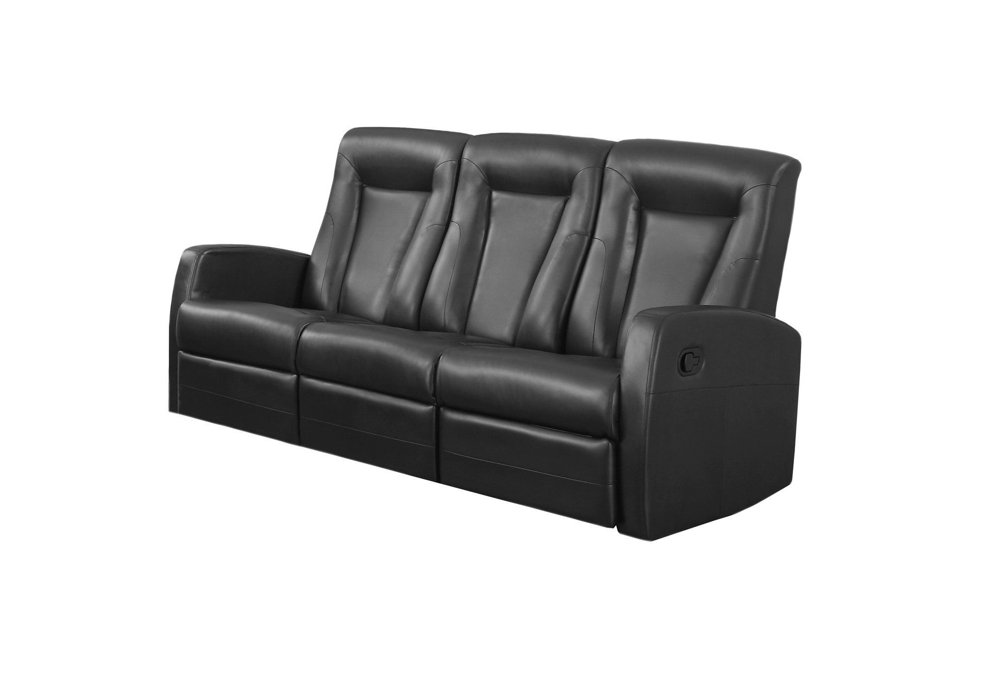Miraculous Reclining Sofa Black Bonded Leather Products Leather Onthecornerstone Fun Painted Chair Ideas Images Onthecornerstoneorg