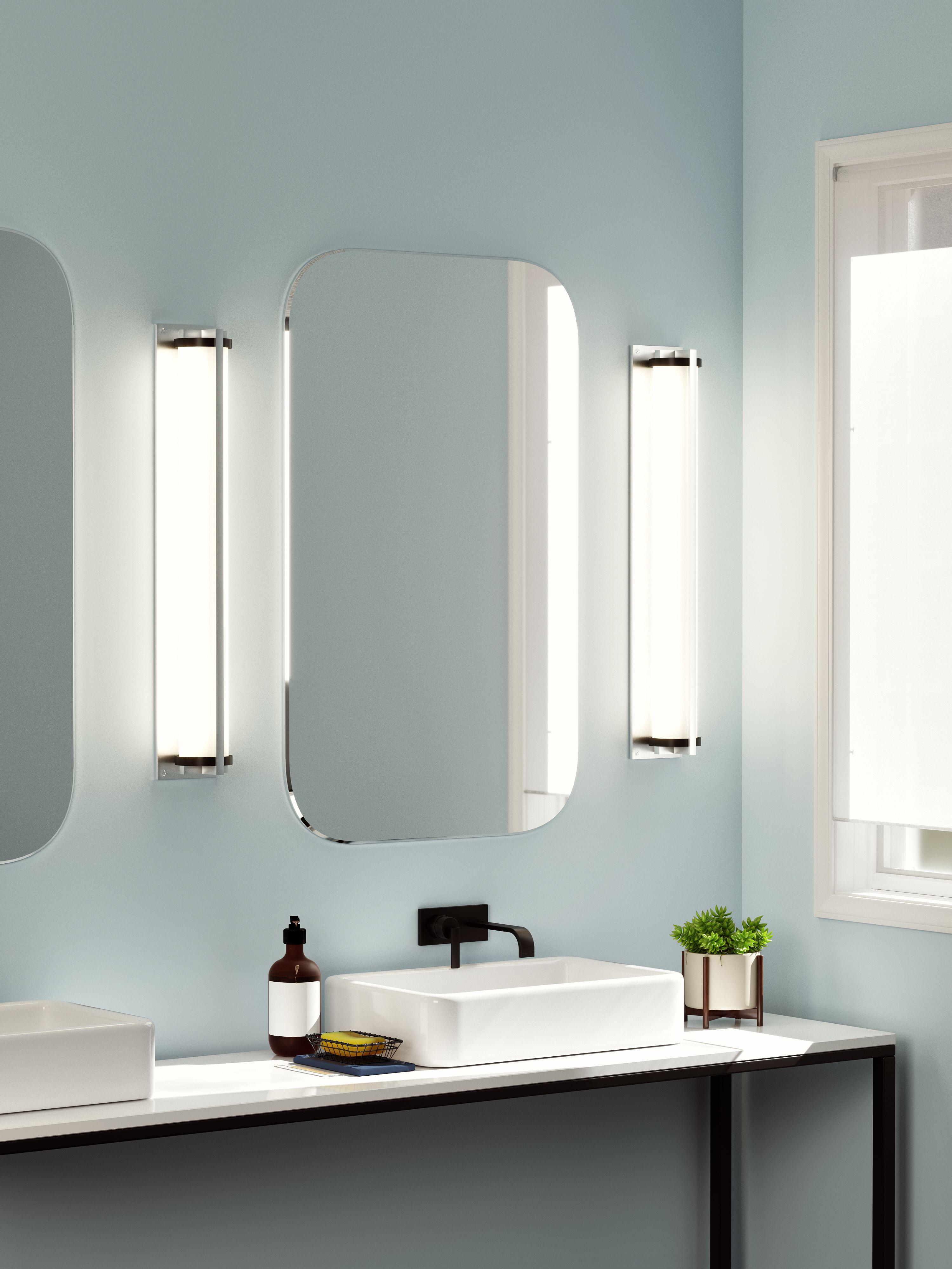 Metropolis Wall Sconce | Bathroom mirror lights, Bathroom ...