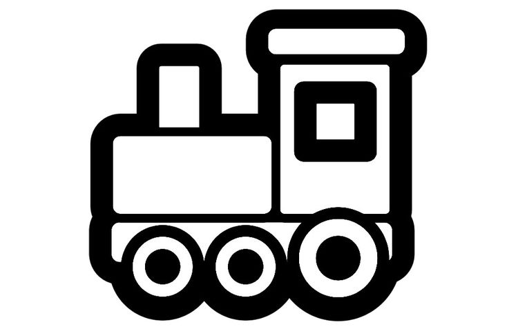 Coloring Page Locomotive Img 28262 Train Clipart Trains Preschool Clipart Black And White