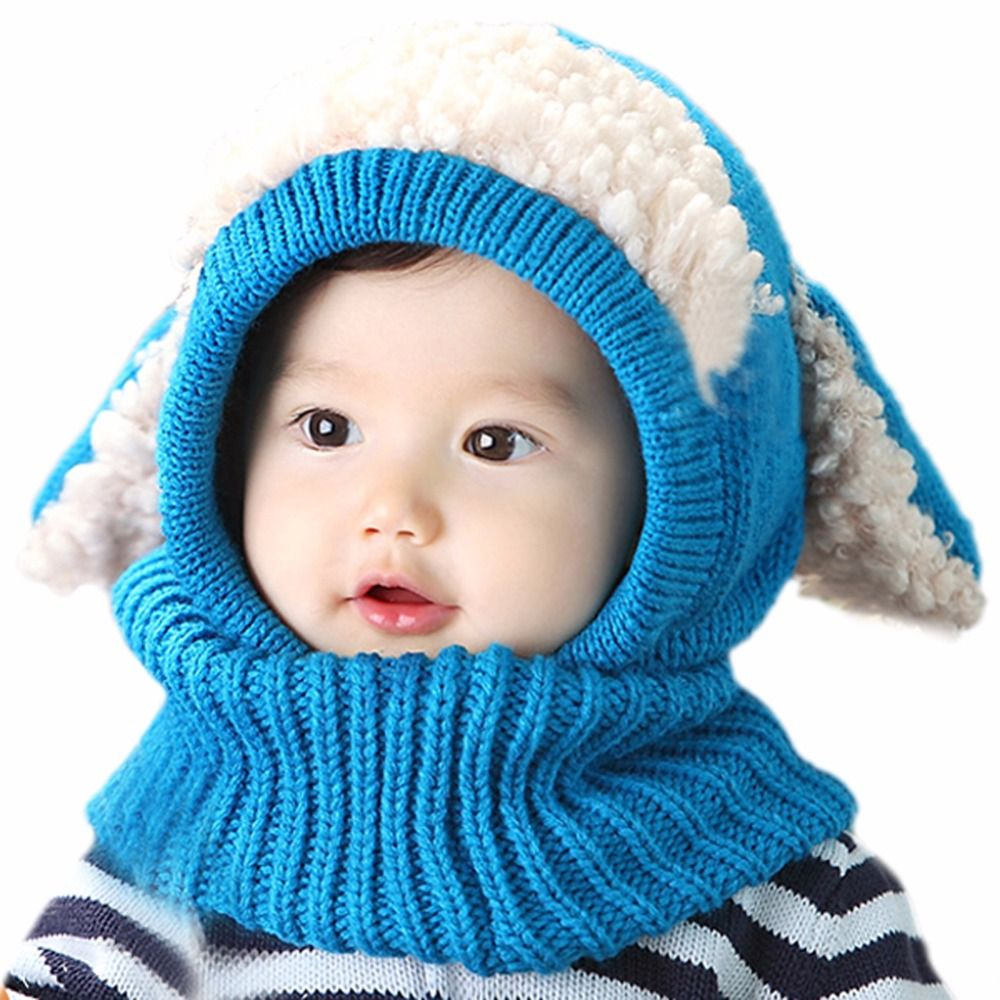 d0820cc9b Click to Buy << Cute Animal Kids Girls Boys Warm Woolen Coif Hood ...