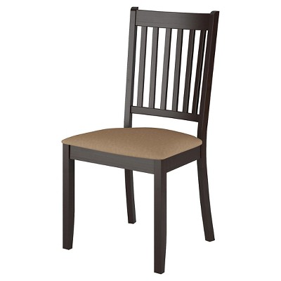 Atwood Dining Chair with Microfiber Seat Wood/Beige (Set ...