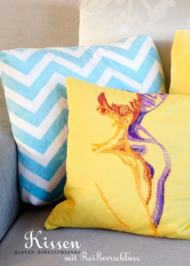 Kissenhülle nähen für Anfänger | gemütliches Sofa, Plüsch und Sofa