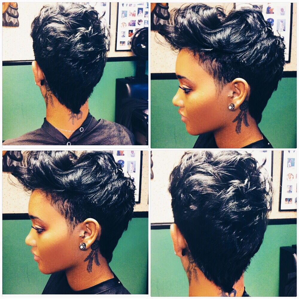 Sistersister beauty salon on ig mohawk pixies hairstyles