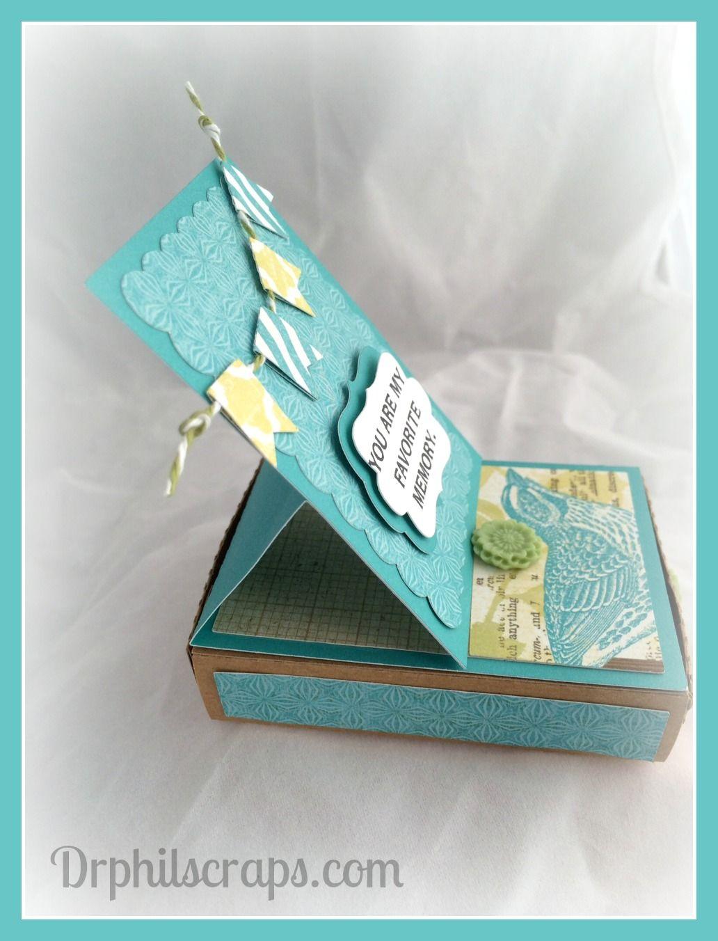 3D Easel Card using CTMH Skylark paper - http://DrPhilScraps.com