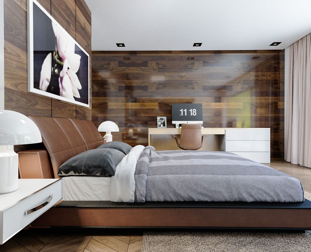 7 The Best Bedroom Theme With Creative Wood Wall Decoration