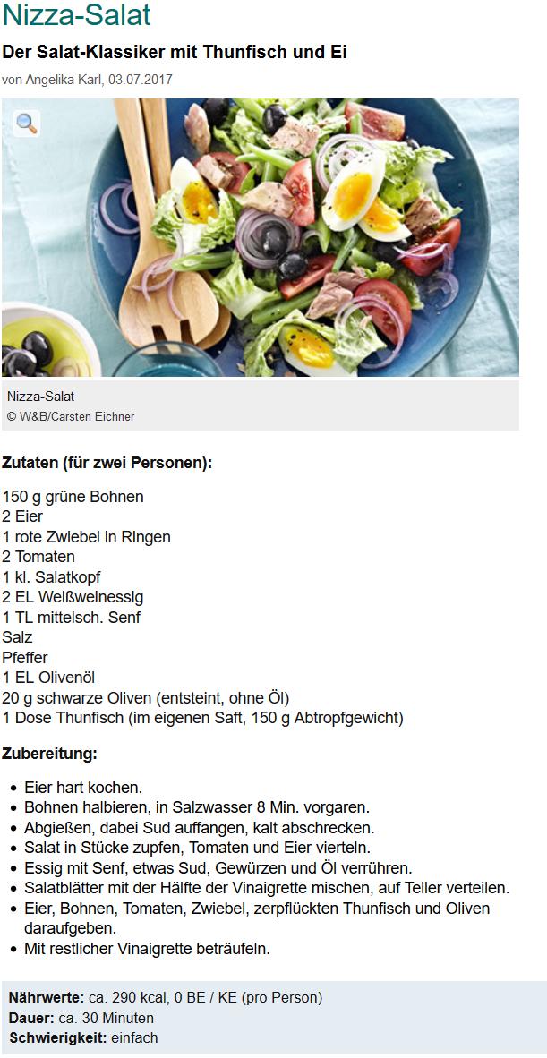 Salat nizza zutaten