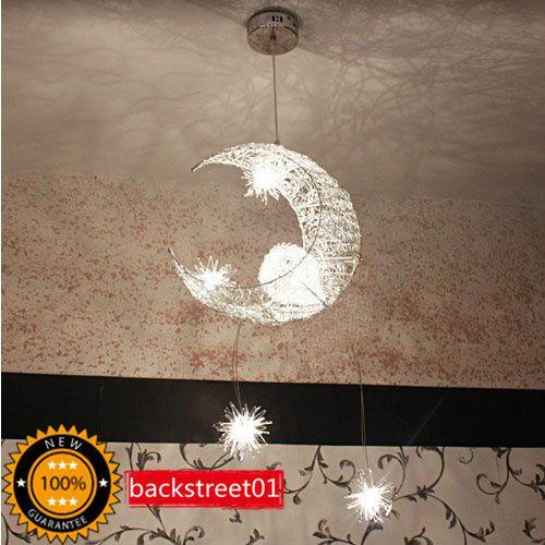 Moon Star Pendant Lamp Chandelier Ceiling Light Fixture | EBay