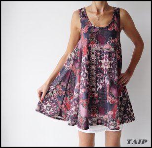 Boohoo Rewelacyjna Tunika We Wzorek 40 6287246073 Oficjalne Archiwum Allegro Fashion Casual Dress Casual