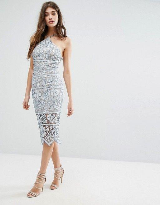 69f1fb16da65 Boohoo Lace Midi Bodycon Dress | Fashion Love | Bodycon Dress ...