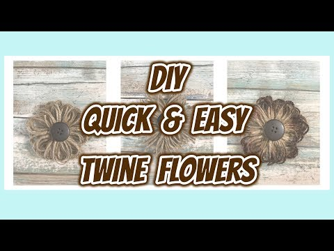 838 My Quick Easy To Do Farmhouse Twine Flowers Diy Flowers