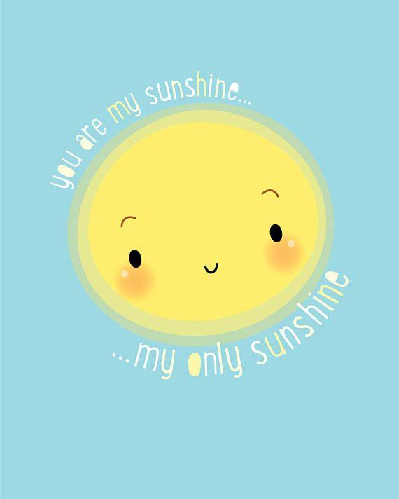You are my sunshine, nursery wall art, baby nursery decor, baby nursery print, kid bedroom wall art, nursery quote print, baby shower gift