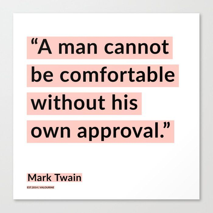 25   | Mark Twain Quotes 200908 Motivational Inspirational Inspiring Motivating Canvas Print by Wordz