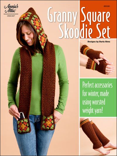 Crochet - Winter Warmer Patterns - Granny Square Skoodie Set ...