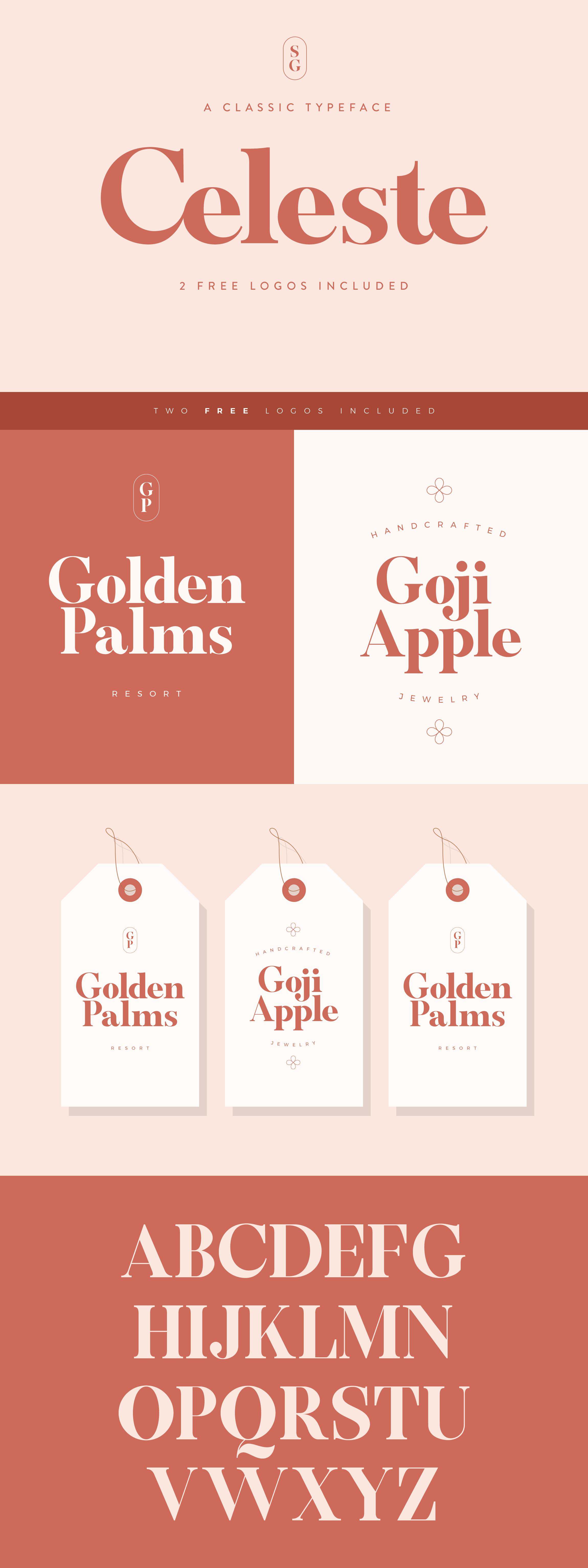 Celesse Classic Font + Logos Classic fonts, Free logo