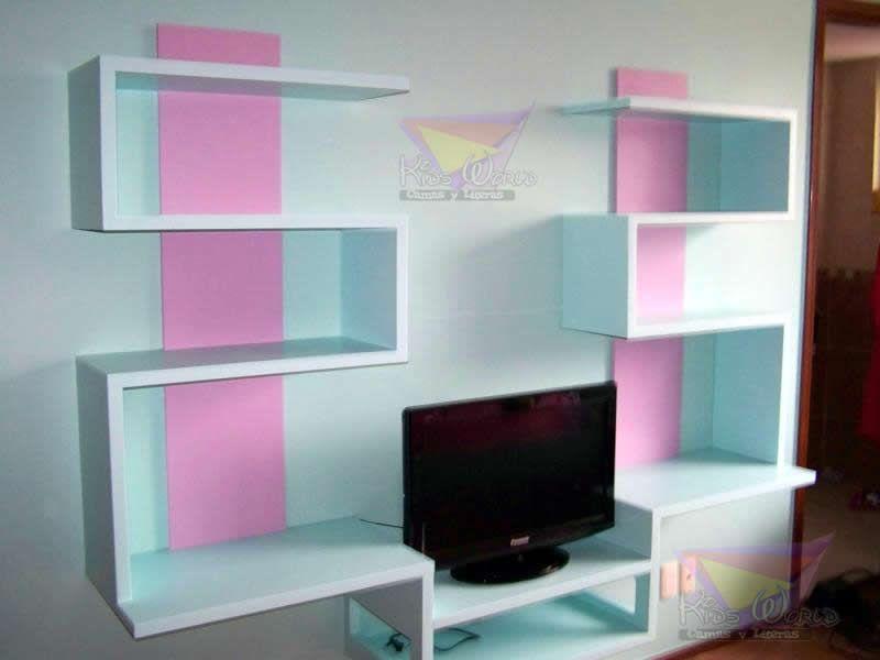 Mueble inteligentes librero y televisi n muebles for Muebles infantiles modernos