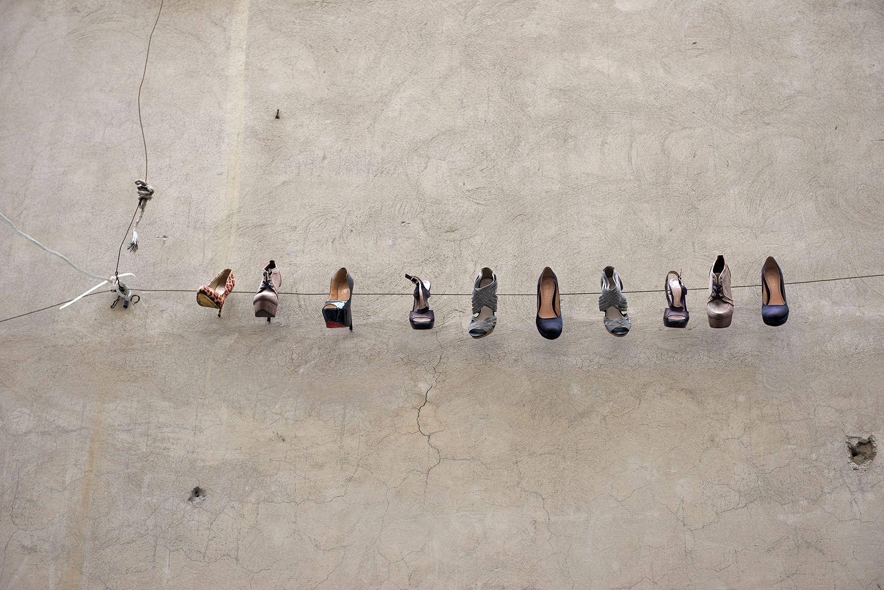 La colección de zapatos