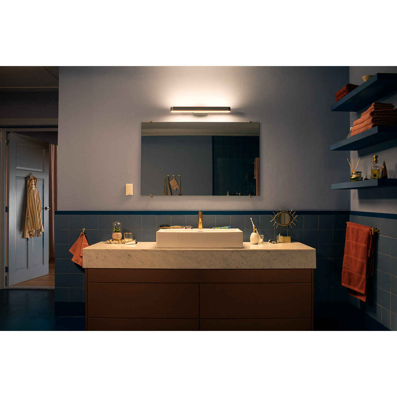 Hue White Ambience Adore Bathroom Mirror Light 3435111p7 Philips In 2019 Bathroom Mirror