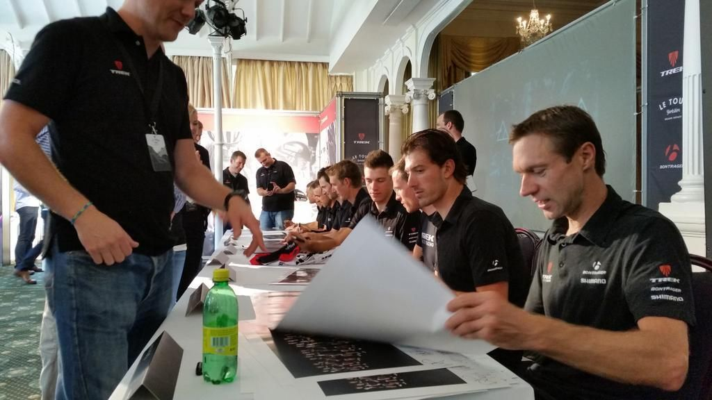 Meet&greet with @TrekBikes  retailers at the #Emonda launch. #TDF