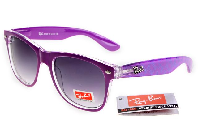 1b32ebdbcc Ray-Ban zx300 Deep Purple Pattern Frame Gray Lens RB1341