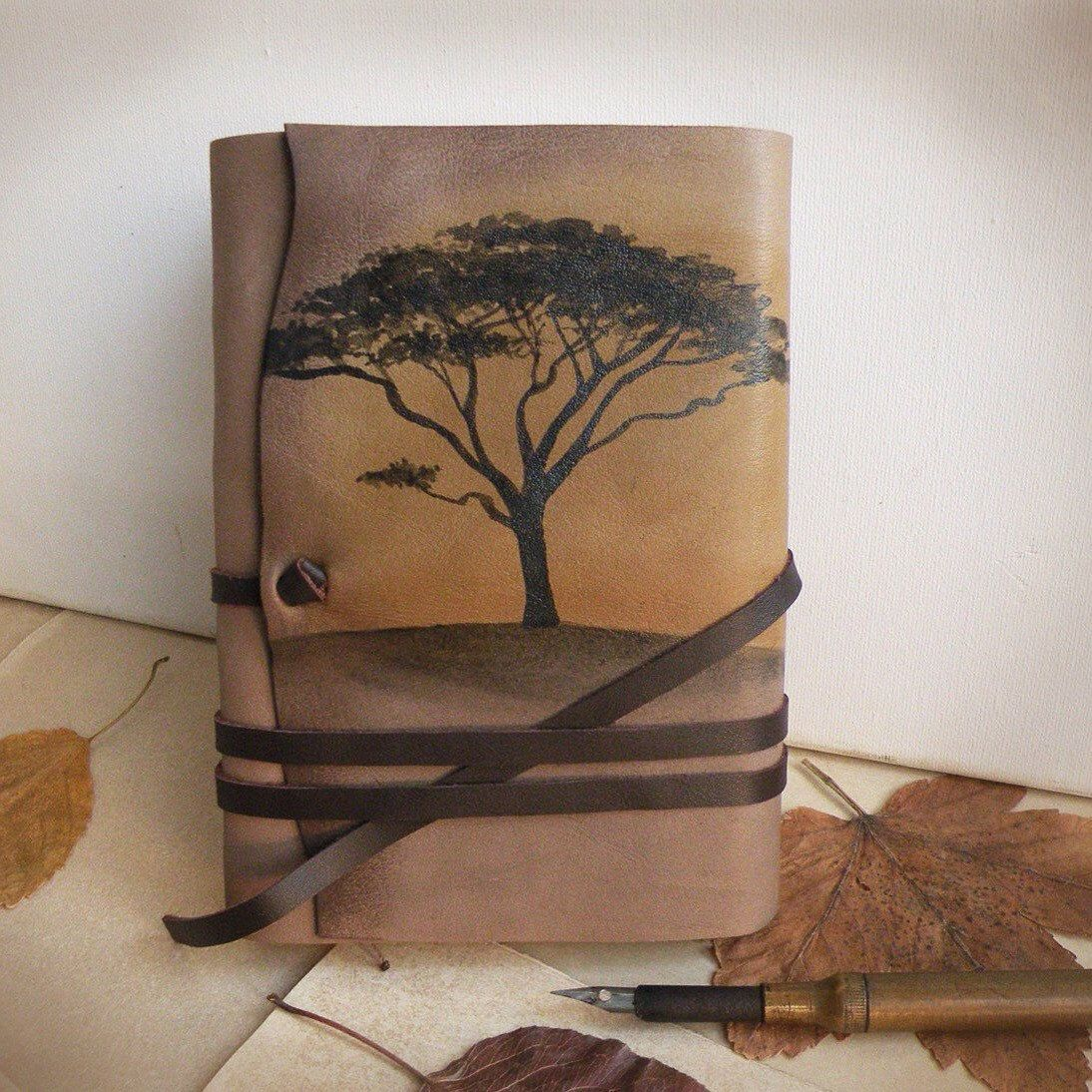 Acacia Tree Leather Journal, A New Best Seller In Our Etsy