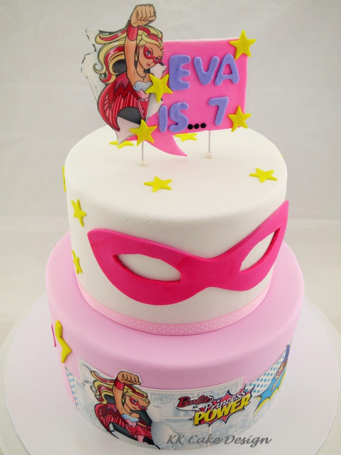 Barbie Princess Power chocolate and vanilla cake