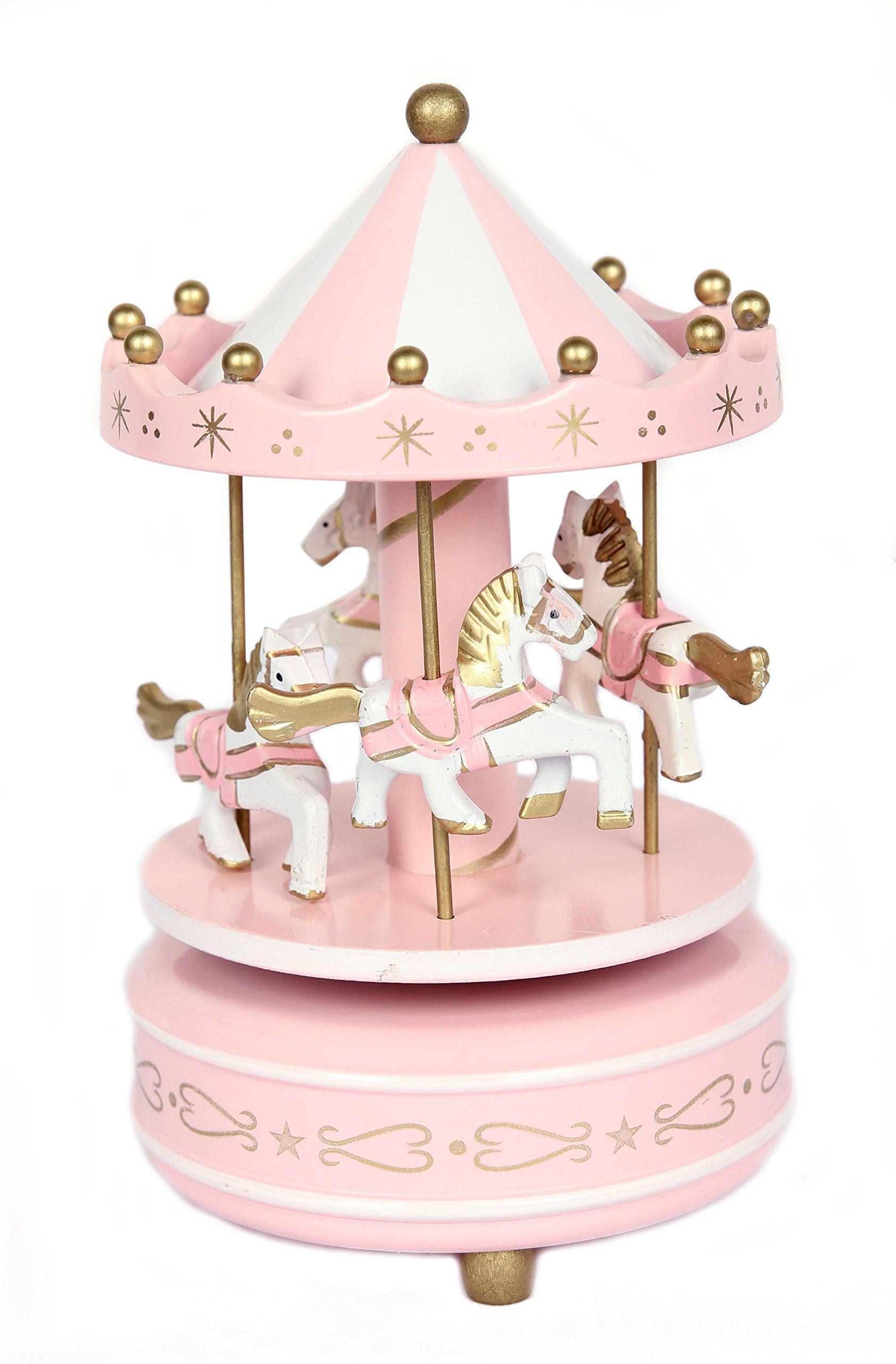 Ebros Neverland Unicorns /& Pegasus Vintage Musical Rotating Carousel Figurine