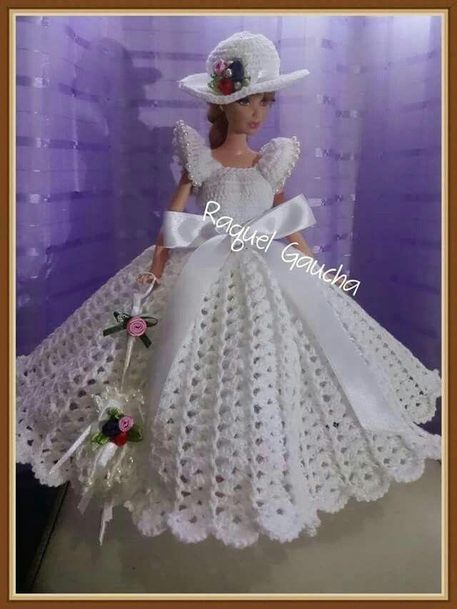 Pin by Ita Gualtieri on barbi | Crochet doll clothes, Crochet barbie clothes, Barbie wedding dress