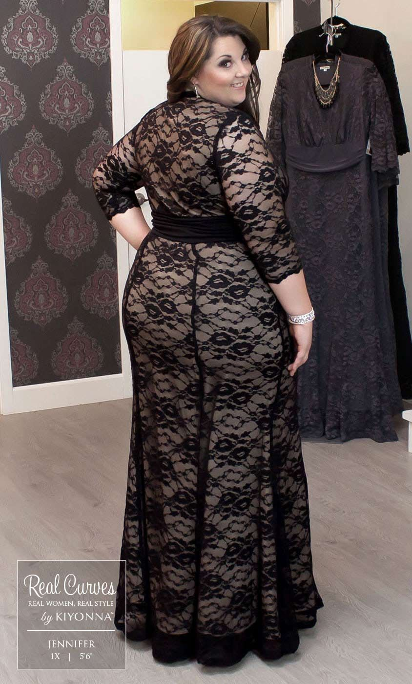 a386b0fdcf1 Check out the deal on Screen Siren Lace Gown at Kiyonna Clothing
