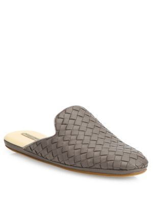 8c5114adc45186 BOTTEGA VENETA Intrecciato Leather Loafer Slides.  bottegaveneta  shoes   flats