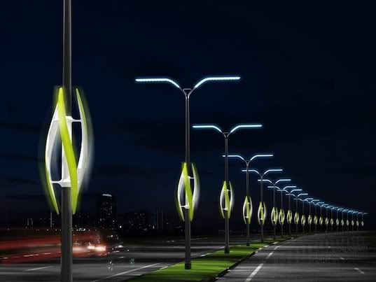 Vertical Axis Wind Turbine to Power Street Lights | Green News