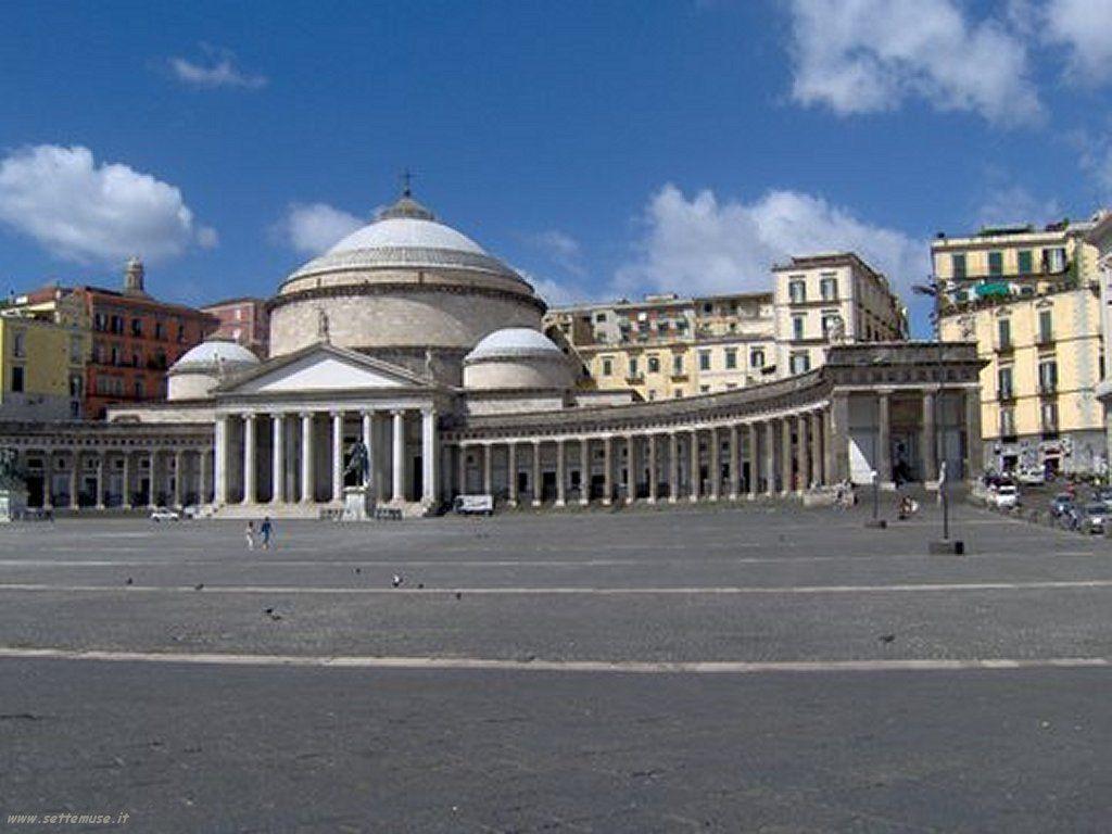 Piaza Del Plebiscito Napoli Cities Of The World Naples Italy