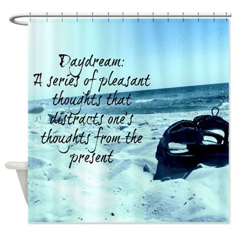 Shower Curtain Daydream Beach by FolkandFunky on Etsy