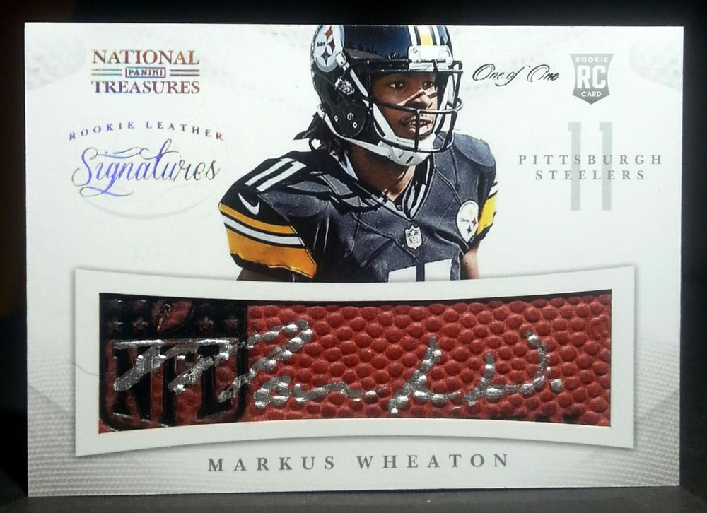 2013 national treasures markus weaton rookie leather