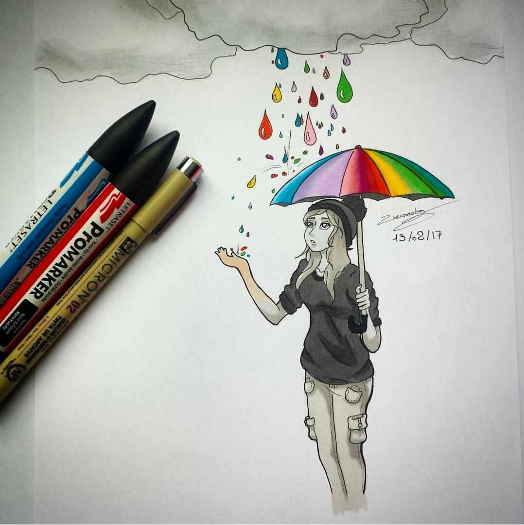 Dessiner Un Parapluie Pencil Sketch