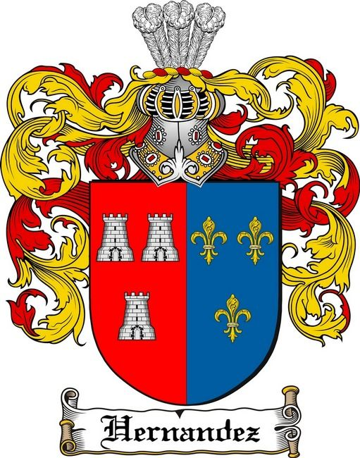 Hernandez Family Crest Coat Of Arms Gift At 4crests