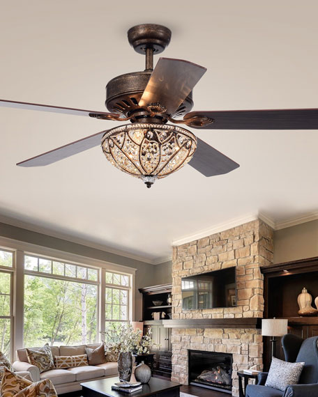 Home Accessories Speckled Bronze Crystal Chandelier Ceiling Fan Ceiling Fan Chandelier Ceiling Fan With Remote Ceiling Fan With Light