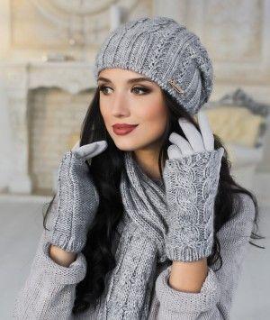 Зимний женский комплект «Андорра» (шапка b151d83eeede0