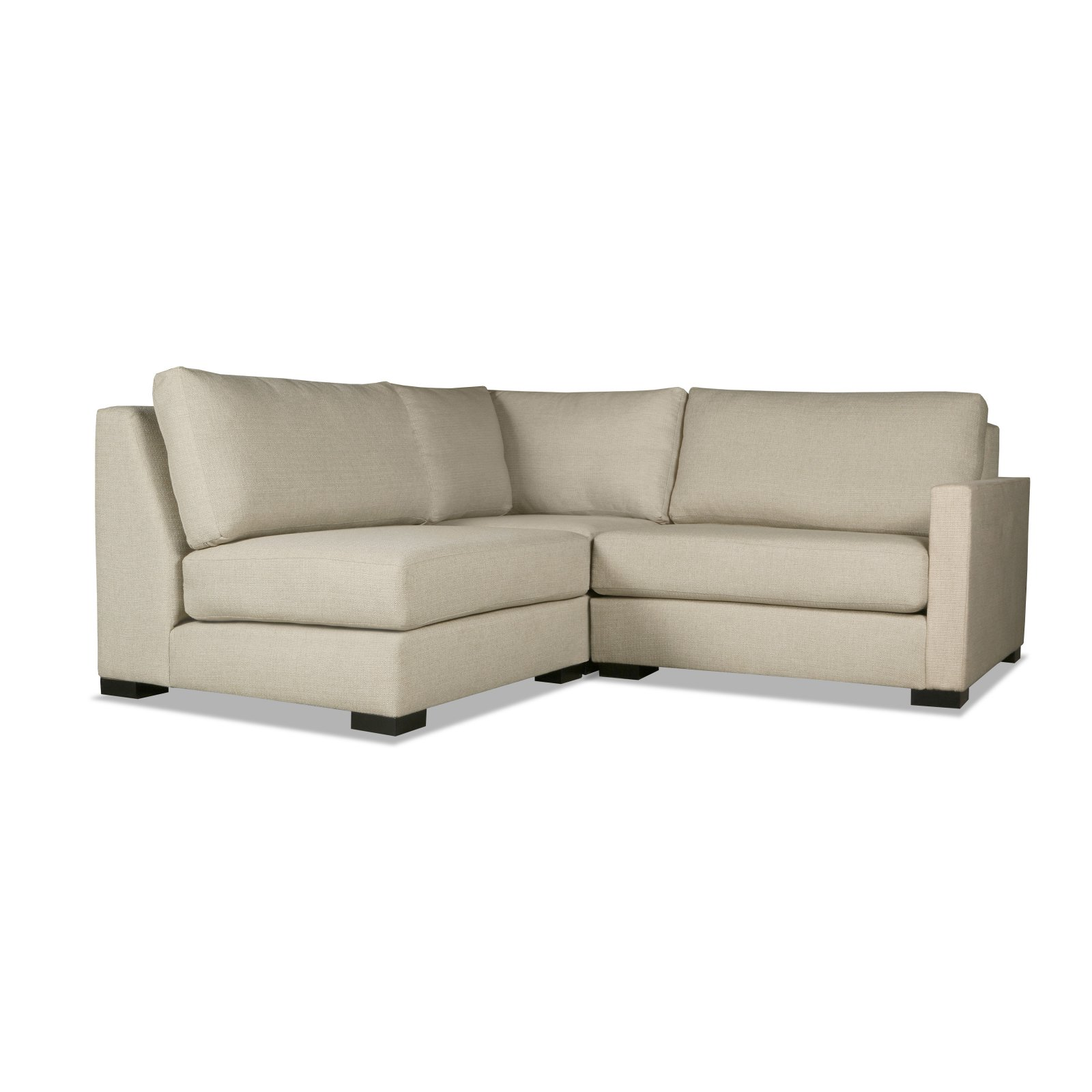 South Cone Mayfair Modular Right Arm L Shape Mini Sectional Sofa Grey Sectional Sofa Sectional Modular Sectional
