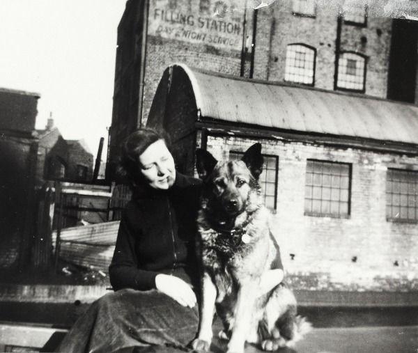 "Caption: ""Eleanor Mitchell at Paddington Basin on the Grand Union Canal"""