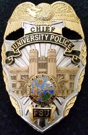 Florida State University Pd Police Badge Police Fire Badge