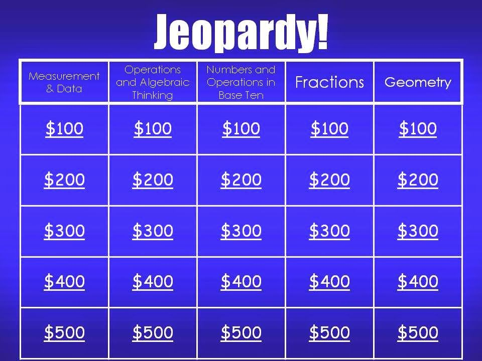 3rd Grade Math Review Game Math test, Math and Gaming - sample jeopardy powerpoint